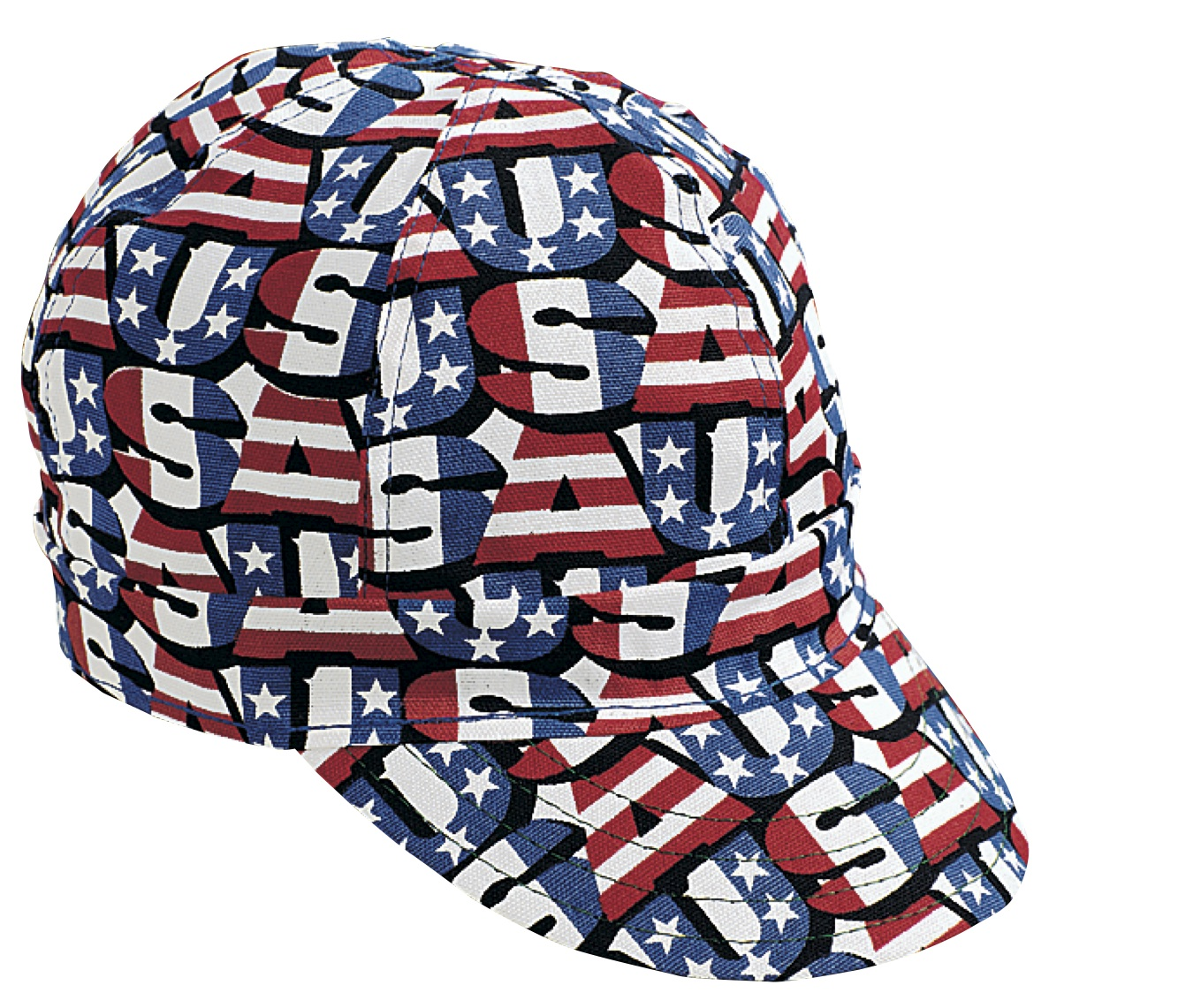 00210-00000-0750, Kromer Red White Blue USA Style Welder Cap, Cotton, Length 5, Width 6, Mutual Industries