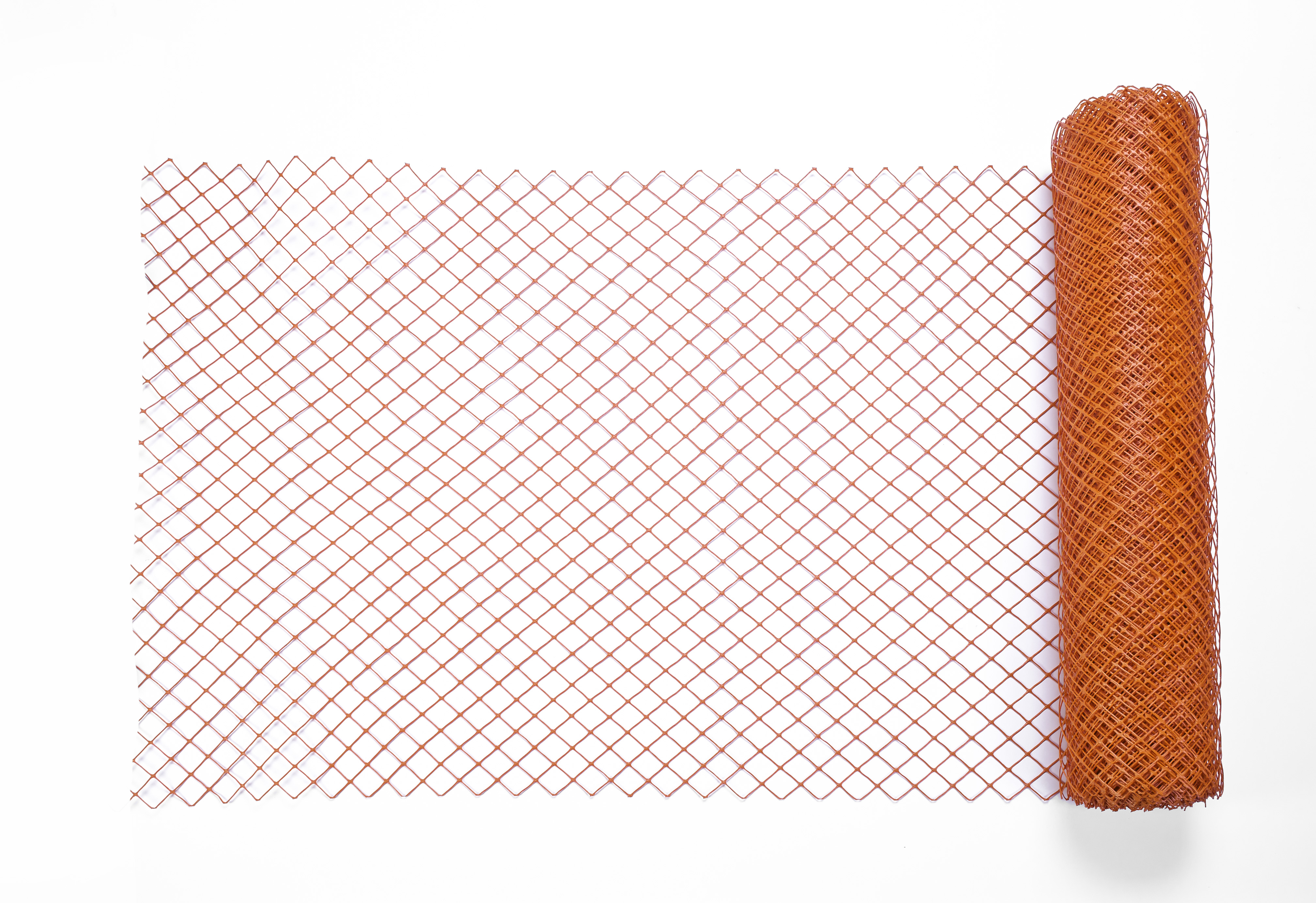 14988-45-0, High Density Polyethylene (HDPE) Diamond Link Safety Fence, 100 ft. Length x 4 ft. Width, Orange, Mutual Industries
