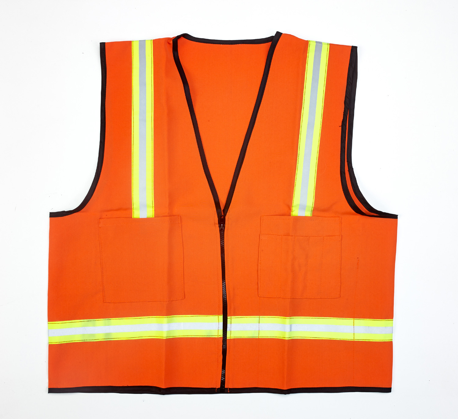 16309-138-6, High Visibility Polyester Surveyor Safety Vest with Pockets, 3X-Large, Orange, Mutual Industries