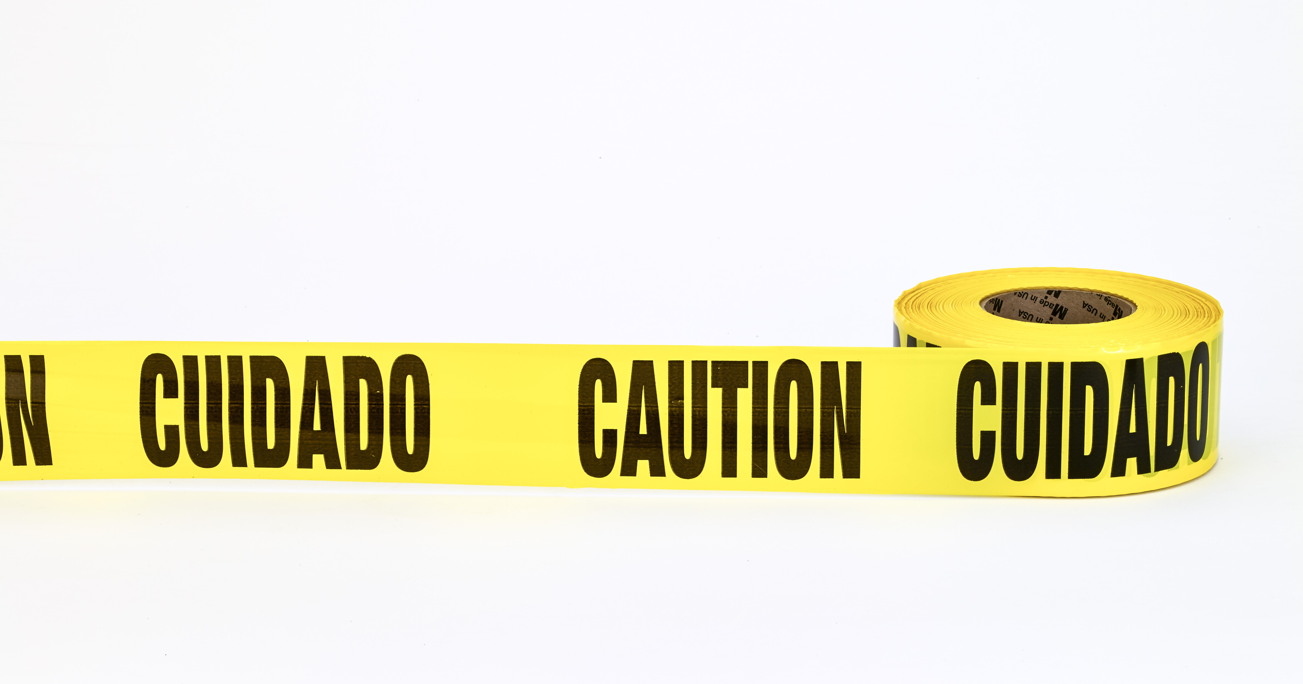 17779-51-3000, 3Mil Barricade Tape, Cuidado Caution, 3 x 1000', Yellow (Pack of 10), Mutual Industries