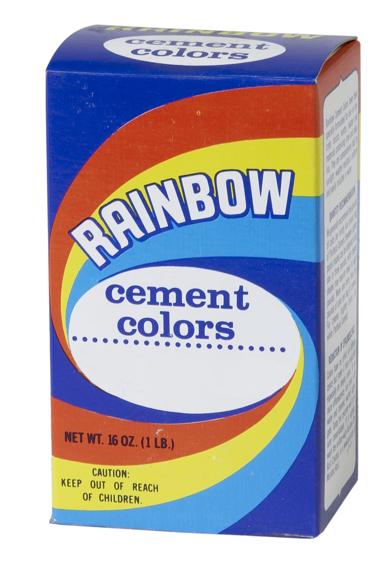 9010-0-1, 1 lb Box of Rainbow Color - Yellow Orchre, Mutual Industries