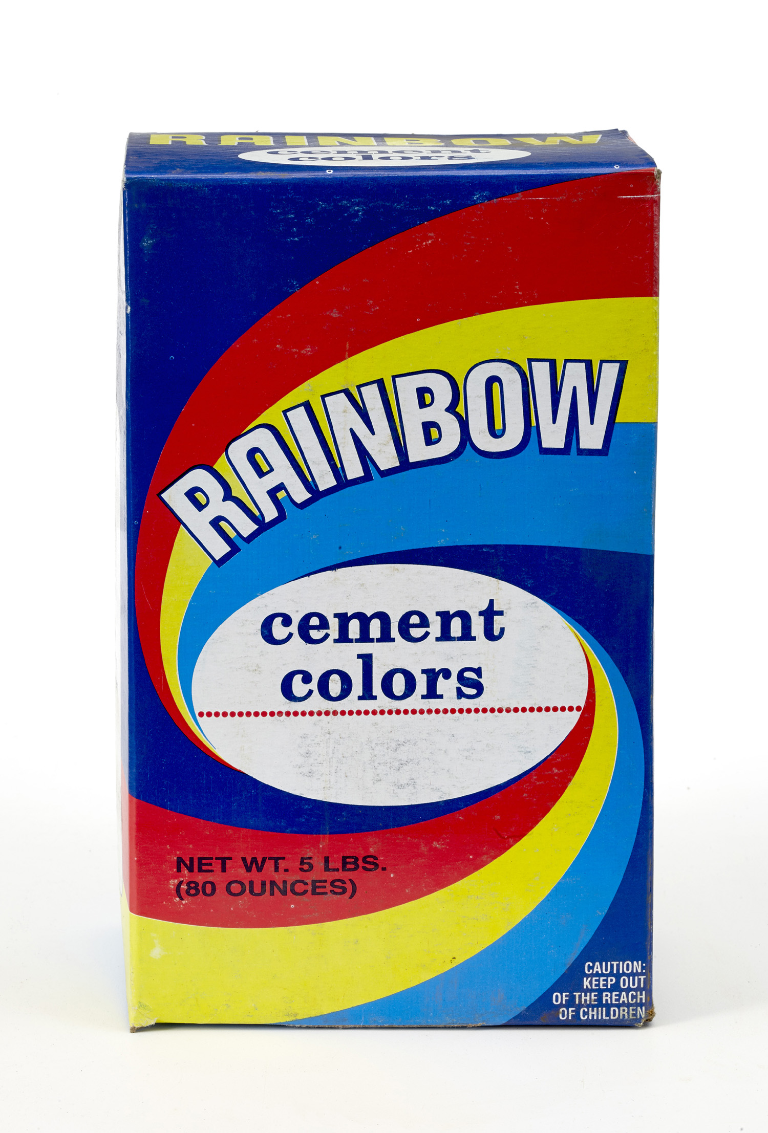 9014-5-0, 5 lb Box of Rainbow Color - Cement Blue, Mutual Industries