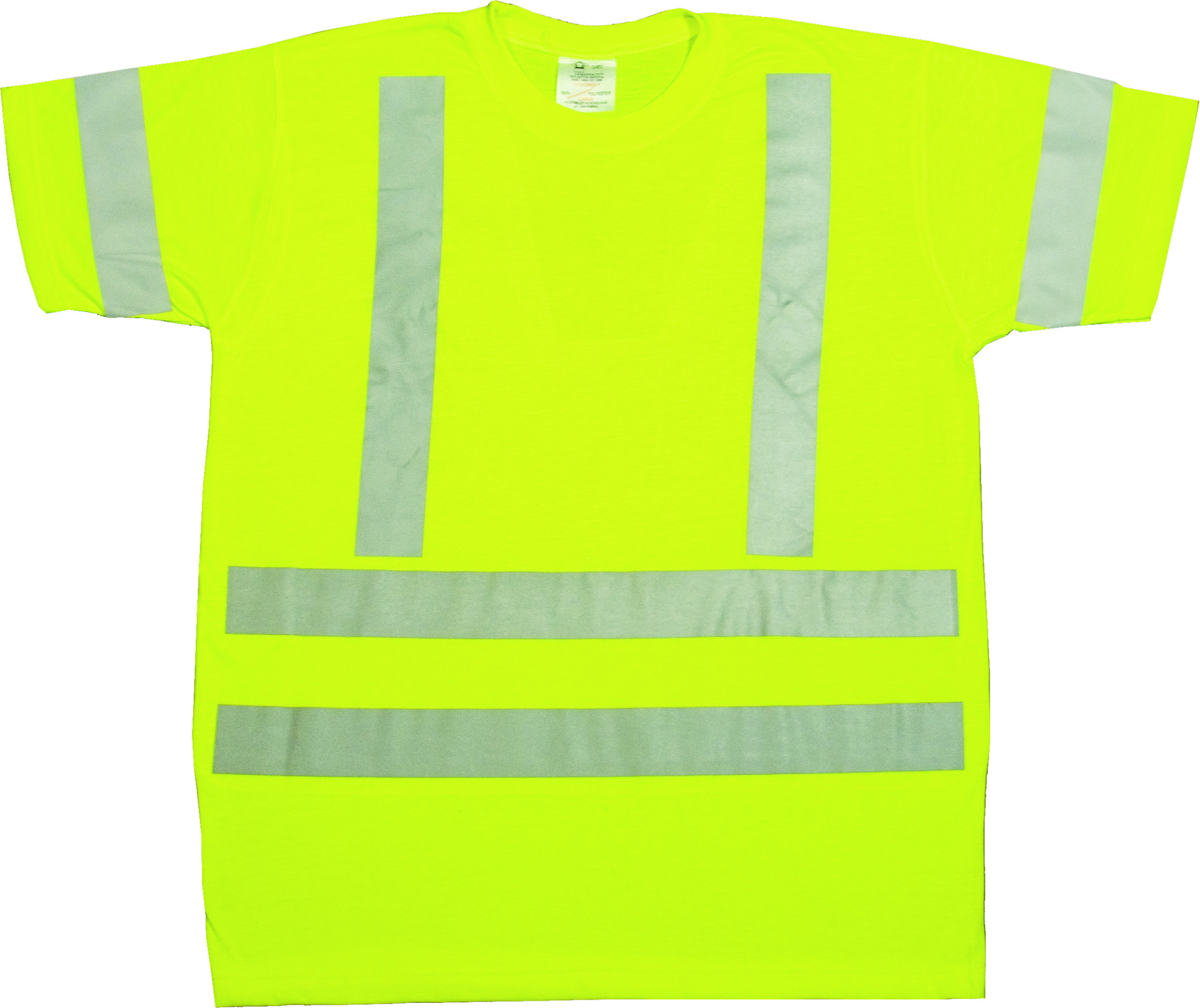 96002-0-103, ANSI Class 3 Durable Flame Retardant T-Shirt, Lime, Large, Mutual Industries