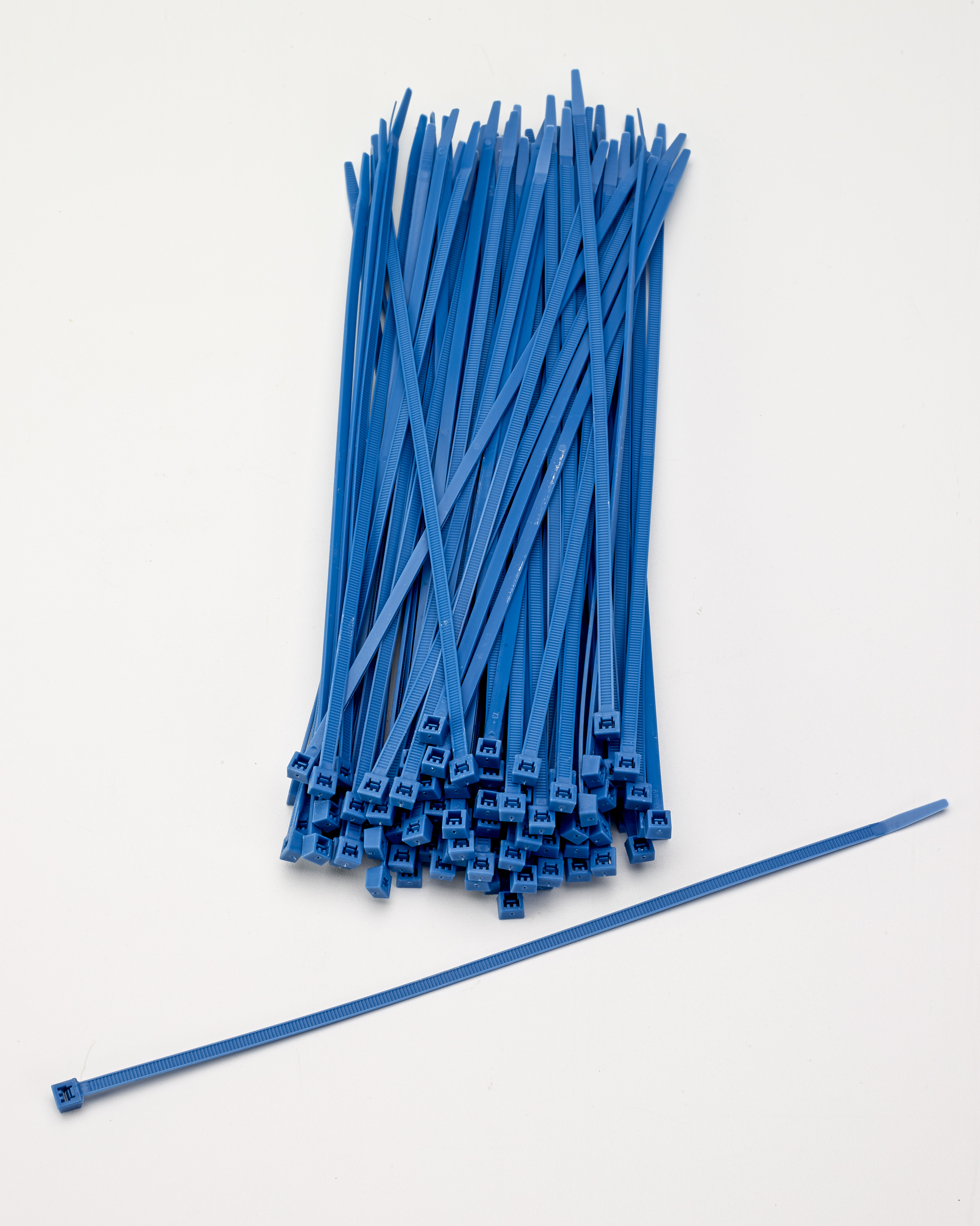 M14970-125-11, Multi-Purpose Locking Ties, 11 in., Neon Blue (Pack of 100), Mutual Industries