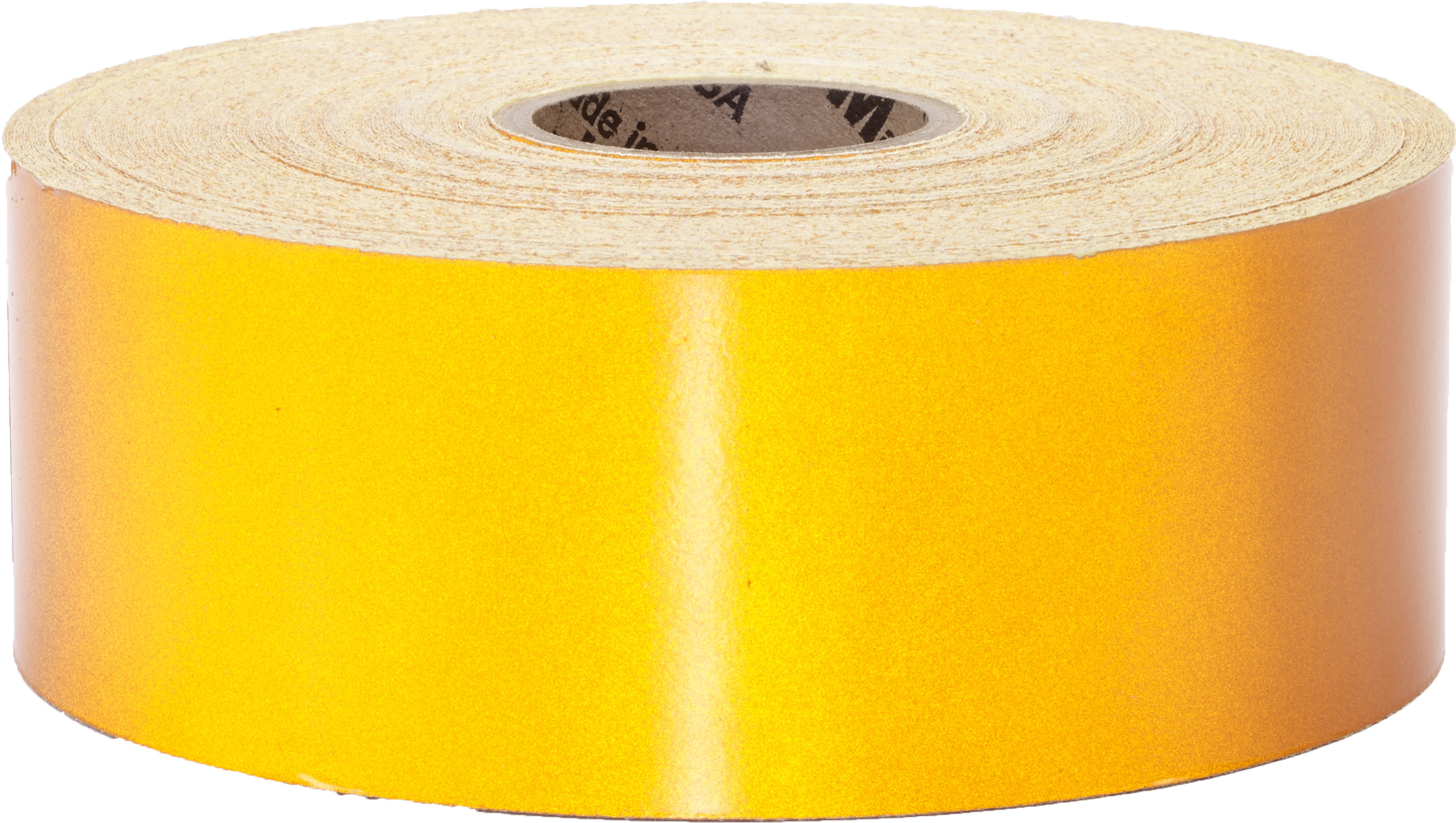 M17786-4110-1000, Pressure Sensitive Engineering Grade Retro Reflective Adhesive Tape, 1 x 10 yd., Yellow, Mutual Industries