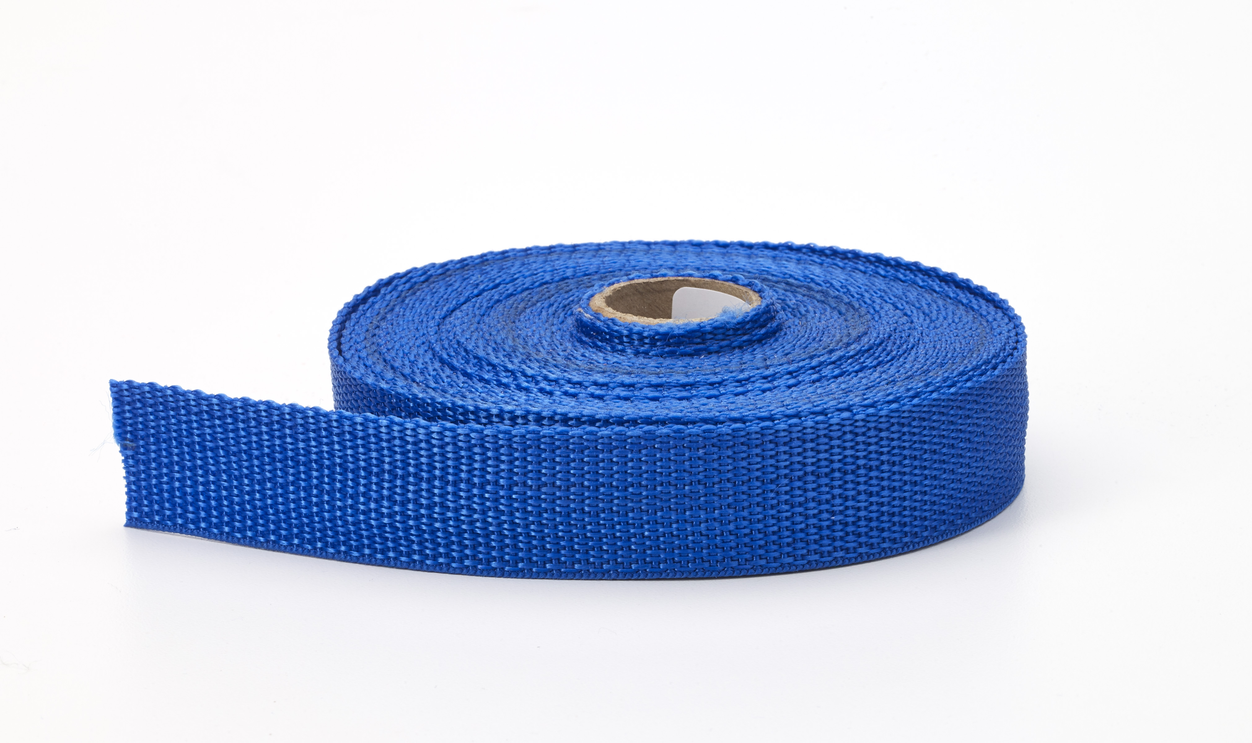 M2020-604-1-10, Polypropylene webbing, 1 in Wide, 10 yds, Pacific blue, Mutual Industries