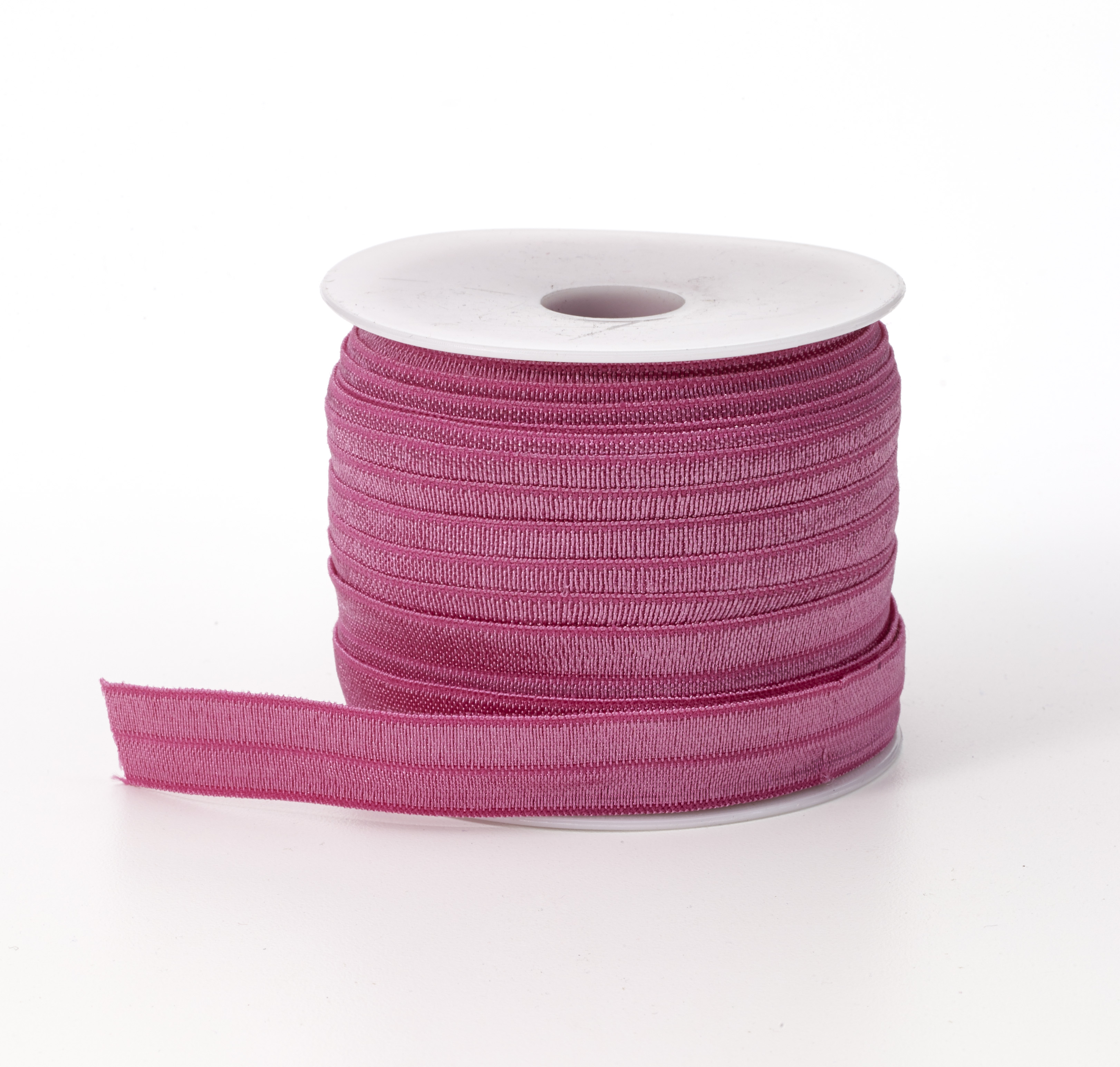 M3070-042, Foldover elastic, .625 in Wide, 25yds, Rose, Mutual Industries