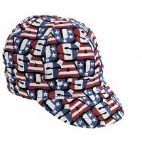 00210-00000-0725, Kromer Red White Blue USA Style Welder Cap, Cotton, Length 5, Width 6, Mega Safety Mart