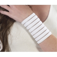Segmented Wrist Wrap -White