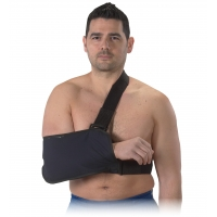 Arm Sling with Immobilizing Strap -Blue