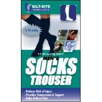 Men's Trouser Socks -15-20 mmHg Black