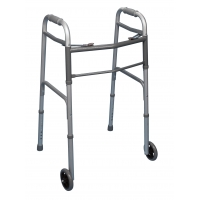 Double Button Walker with Wheels