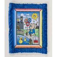 1234-1, Baby quilt kit, Boy Bear w/ blue minkee back 25