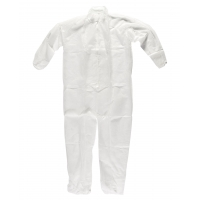 Disposable Polypro Coverall, 30 g, Large, White (Pack of 25)