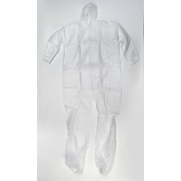 Polypropylene Disposable Bunny Suit with Hood, 30 g, Large, White (Pack of 25)