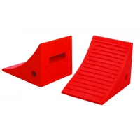 Wheel Chock, Urethane, Orange, 11-3/8 in X 8-1/4 in X 7-5/8 in