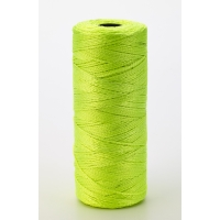 Nylon Mason Twine, 1/2 lb. Twisted, 18 x 550 ft., Glo Lime (Pack of 6)
