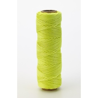 Nylon Mason Twine, 1/4 lb. Braided, 18 x 250 ft., Glo Lime (Pack of 6)