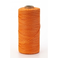 Nylon Mason Twine, 1/2 lb. Braided, 18 x 500 ft., Glo Orange (Pack of 6)