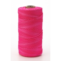 Nylon Mason Twine, 1 lb. Braided, 18 x 1000 ft., Glo Pink (Pack of 4)