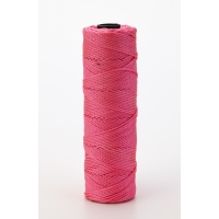 Nylon Mason Twine, 1/4 lb. Braided, 18 x 250 ft., Glo Pink (Pack of 6)