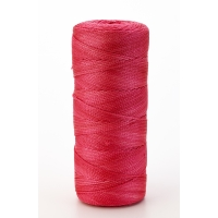 Nylon Mason Twine, 1/2 lb. Braided, 18 x 500 ft., Glo Pink (Pack of 6)