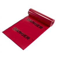 Tear-Off Danger Flags, Printed with 'DANGER', 12 in X 12 in X 1500 ft