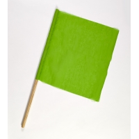 Cloth Signal Traffic Warning Flag, Green, 18 in. x 18 in. x 36 in. (Pack of 10)