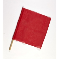 Cloth Signal Traffic Warning Flag, Red, 18 in. x 18 in. x 27 in. (Pack of 10)