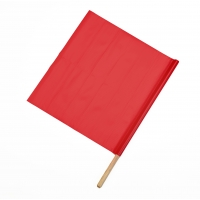 Vinyl Highway Safety Traffic Warning Flag, Red, 18 in. x 18 in. x 30 in. (Pack of 10)
