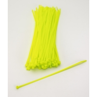 Multi-Purpose Locking Ties, 11 in., Neon Yellow (Pack of 100)