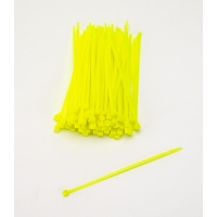 Multi-Purpose Locking Ties, 7 in., Neon Yellow (Pack of 100)