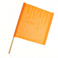 Heavy-Duty Mesh Safety Traffic Warning Flag, 18 in. x 18 in. x 24 in. (Pack of 10)