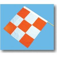 14977, Heavy Duty Nylon Airport Flag, 36 in. Length x 36 in. Width, Orange/White, Mega Safety Mart