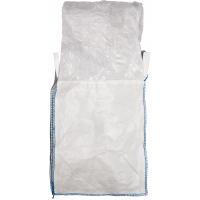 Polypropylene Bulk Bag, 3000 lbs Capacity, 3ft. Length x 3ft. Width x 3ft. Height