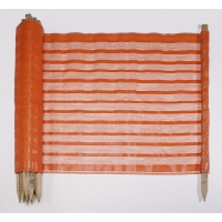 Woven Polypropylene Fabric Preposted Barricade Safety Fence, 100 ft. Length x 48 in. Width, Orange