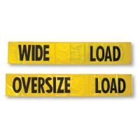 12 oz Heavy-Duty Vinyl-Coated Nylon Double Sided Load Banner, 7 ft. Length x 18 ft. Width, Yellow