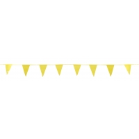 14991-41, Pennant Banner Flags, 60 ft., Yellow (Pack of 10), Mega Safety Mart