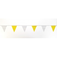 Pennant Banner Flags, 60 ft., Yellow/White (Pack of 10)