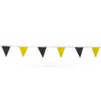 Pennant Banner Flags, 60 ft., Yellow/Black (Pack of 10)