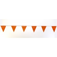 Pennant Banner Flags, 60 ft., Orange (Pack of 10)