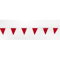 Pennant Banner Flags, 60 ft., Red (Pack of 10)