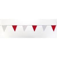 Pennant Banner Flags, 60 ft., Red/White (Pack of 10)