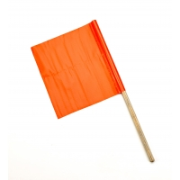 Vinyl Highway Safety Flags, Reinforced 3-ply, 12 in. x12 in. x 24 in. staff(pack of 10)