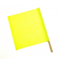 Lime Vinyl Highway Safety Flags, 18 in. x 18 in. x 24 in. staff (pack of 10)