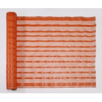 Woven Polypropylene Fabric Safety Barricade Fence, 150 ft. Length x 4 ft. Width, Orange