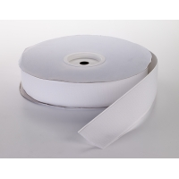 Pressure Sensitive Hook Fastening Tape Roll, 25 yds Length x 4' Width, White