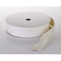 Pressure Sensitive Loop Fastening Tape Roll, 25 yds Length x 4' Width, White