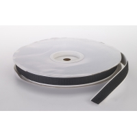 154-91-875, Pressure Sensitive Adhesive Coin Hook Fastener, 7/8 Diameter x 25 yds Length, Black, Mega Safety Mart