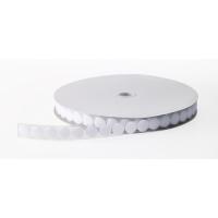 155-10-750, Pressure Sensitive Adhesive Coin Loop Fastener, 3/4 Diameter x 25 yds Length, White, Mega Safety Mart